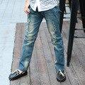 2017 Nueva Primavera Niños Ripped Jeans Niños Denim Jeans Niños Estilo Moda Niños Ropa Niños Pantalones Pantalones de Deportes de Los Niños