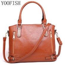 YOOFISH   Famous Brand Fashion Women Bags Mobile Messenger Ladies Handbag PU Leather High Quality Diagonal Cross Buns Mother Bag