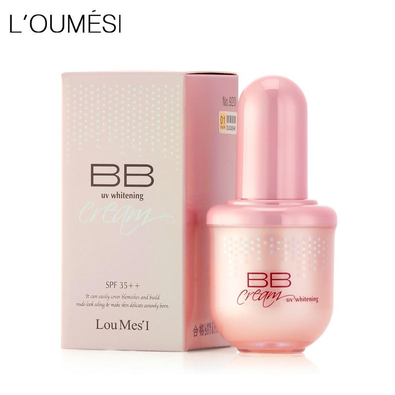Loumesi idratante crema di bb di trucco fondazione correttore crema trucco nude naturale perfetto copertura bb cc crema 45 ml