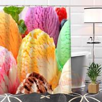 En Güzel Özel Dondurma Duş Perde Banyo Perde Banyo DAHA BOYUTU WJY #64 Için Su Geçirmez Kumaş