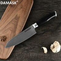 Damask 7 inch Santoku Knife Damascus Steel Japan Kitchen Knife VG10 Steel 67 Layer Damascus Cooking Santoku Knife Vegetable Tool
