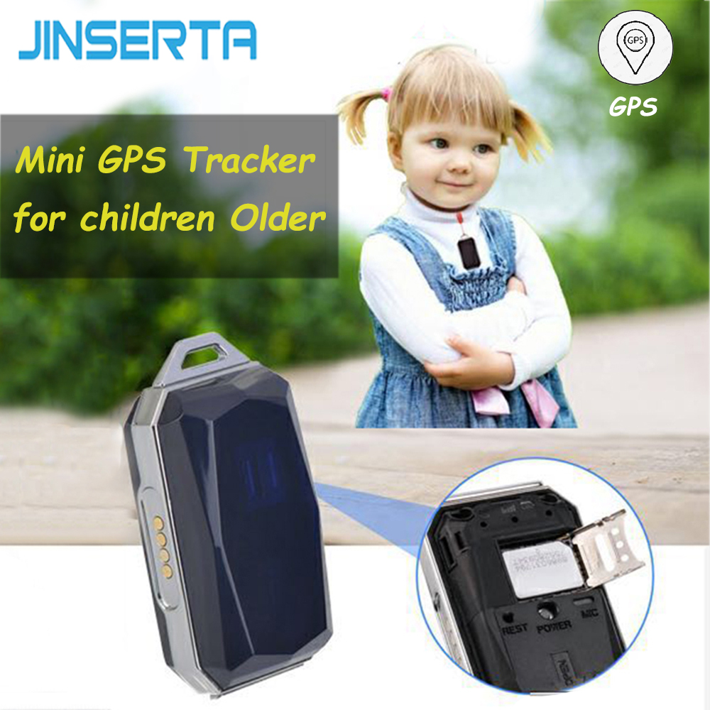 JINSERTA Mini Smart GPS Tracker Locator Waterproof Magnet Charging GPS AGPS WIFI LBS BDS Real Time Tracking for Children Older