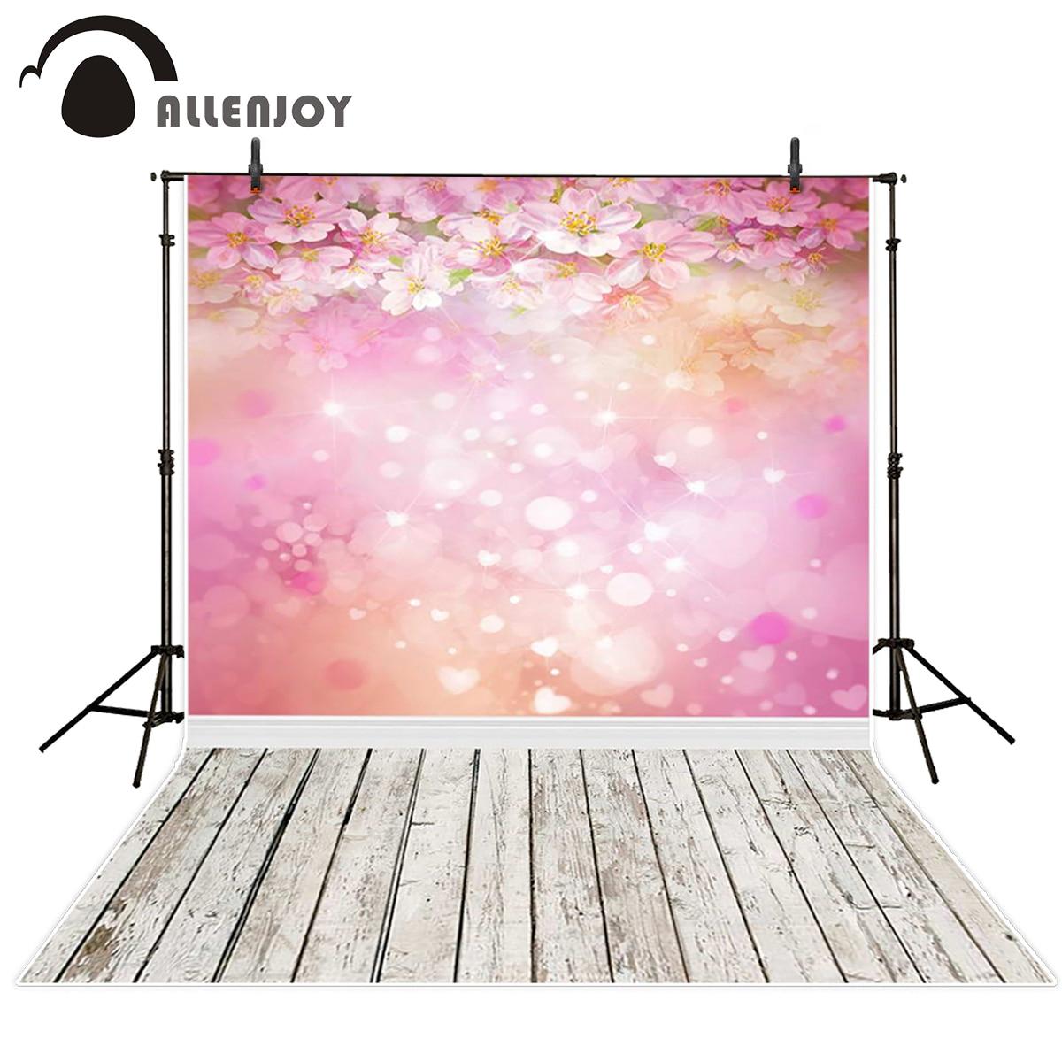 Allenjoy photography backdrops pink flower wood bokeh background photography backdrop for photo studio 5x7ft pink bokeh tulip landscape background photography floral artfabric backdrop d 8894