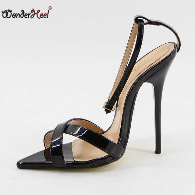 fe6c8a752241 Online Shop Wonderheel Extreme high heel 14cm stiletto heel ankle strap  pointed toe Sexy High Heel fashion sexy women sandals big size