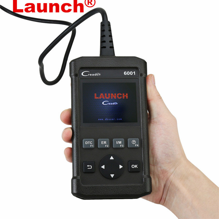 Launch DIY Code Reader CReader 6001 Full OBDII OBD2 functions Support O2 Sensor Test Launch CReader 6001