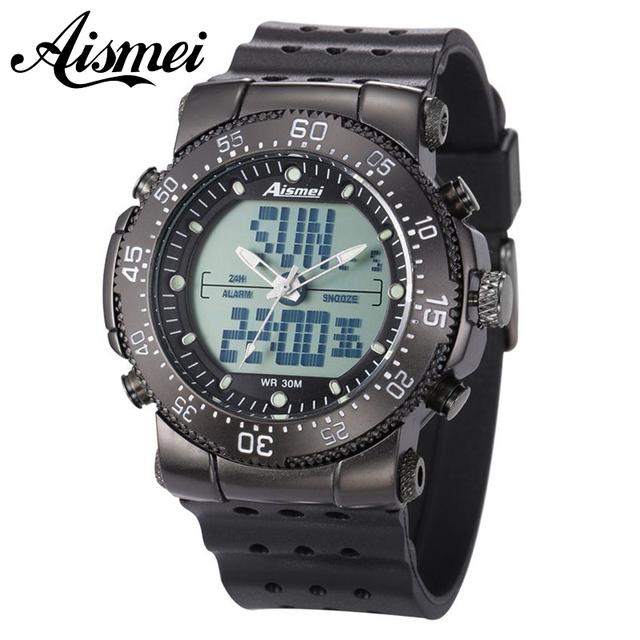 Nueva Aismei táctico digital Relojes Militares LED Digital Alarm Ejército Impermeable Cuarzo de la Marca de moda casual relojes de Pulsera Deportivos