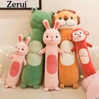 New 55cm 70cm 90cm Large Plush Toy Kids Sleeping Cartoon Animal Stuffed Pillow Cute Soft Frog Lion Monkey Dolls Birthday Gift