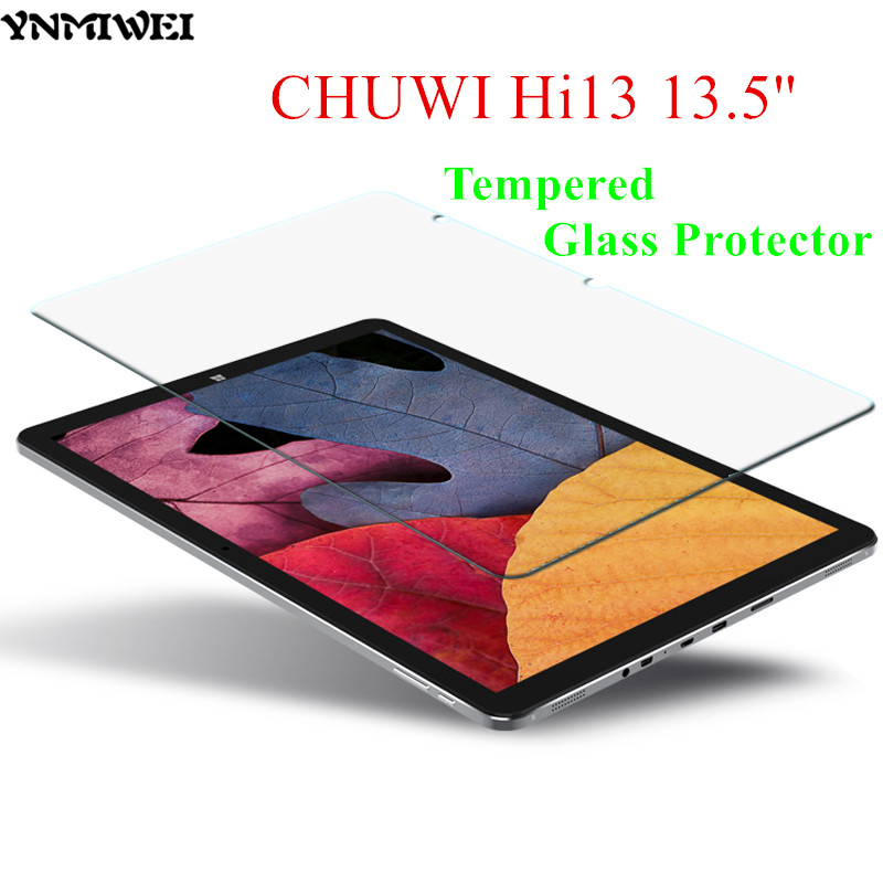 YNMIWEI Hi13 Glass Protector 13.5 inch Protective Flim for CHUWI Hi13 Screen Protector 2.5D 0.3 MM Tempered Glass Protector benks tempered glass for xiaomi 5 2 5d radians screen protector