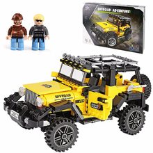 XINGBAO 03024 playmobil Technic Car Series Offroad Adventure Set Building Blocks Bricks educational kids Toys birthday gifts 45(China)