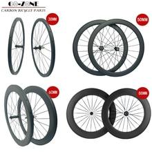 Rodas de carbono 38mm 50mm 60mm 88mm rodas de estrada de carbono 700c clincher rodas de bicicleta rodas de carbono chinês