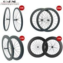 Ruote in carbonio 38 millimetri 50 millimetri 60 millimetri 88 millimetri ruote in carbonio 700c wheelset del carbonio della graffatrice rotelle della bici del carbonio cinese ruote in carbonio