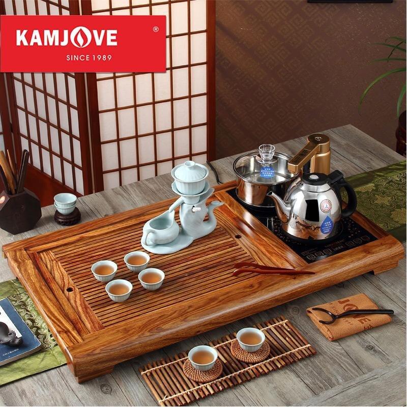 Бесплатная доставка KAMJOVE R 800 палисандр чай лоток резьба по дереву сделать чай машина интеллектуальные чай art плита весь чайный набор