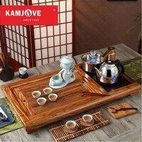 free shipping KAMJOVE R 800 rosewood tea tray Wood carving make tea machine intelligent tea art stove whole tea set