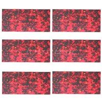 6pcs 360mm*180mm DIY Acoustic Guitar Pickguard Plate Blank Adhesive Back Flower Spot PVC New