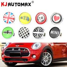 Mini Cooper Frontale In Metallo Griglia Distintivo Dell'emblema Sticker Set di Accessori Countryman Clubman R55 R56 R57 R58 R59 R60 R61 F55 f56