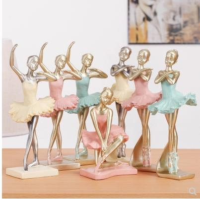 Beautiful ballerina girl crafts, character artwork, creative home office decorations, wedding birthday gifts