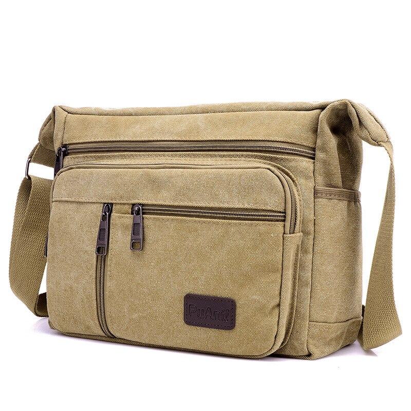 ZHIERNA 2018 Men Casual Briefcase Business Shoulder Bag Canvas Hand bag Sacoche small male handbags Satchel Travel Crossbody bag