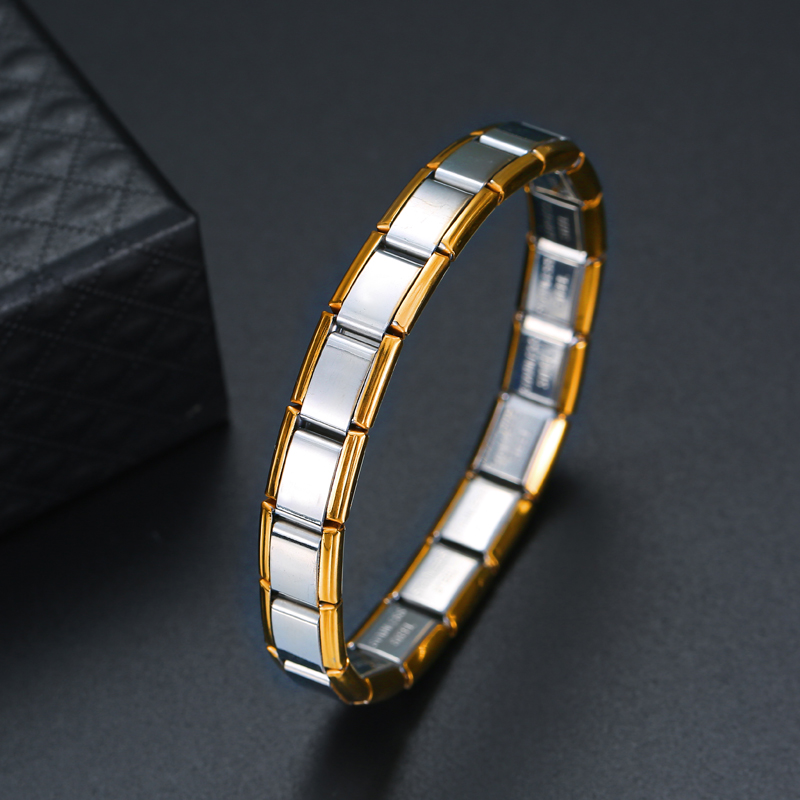 Stainless Steel Bracelet Minimalism Link Chain Style Cool Unisex Casual Bracelet Charm Couple Jewelry Personality Cuff Bangle in Hologram Bracelets from Jewelry Accessories