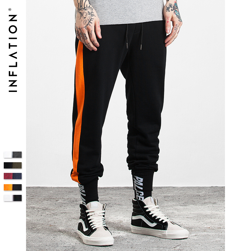 INFLATION 2017 Autumn Men Casual Sweatpants Elastic Waist Streetwear Brand Clothing 302W17