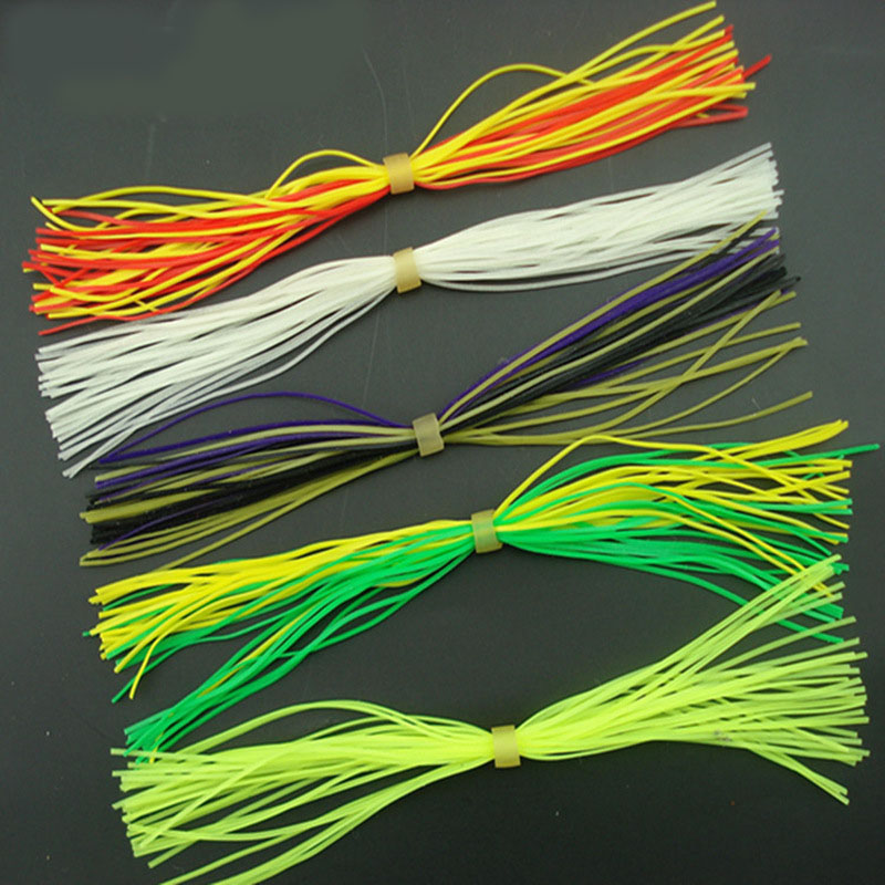 20 Bundles Assorted Color Silicone Skirts Rubber Jig Lures Squid Skirts Material Line foot and DIY Fly Fishing Tying Accessories