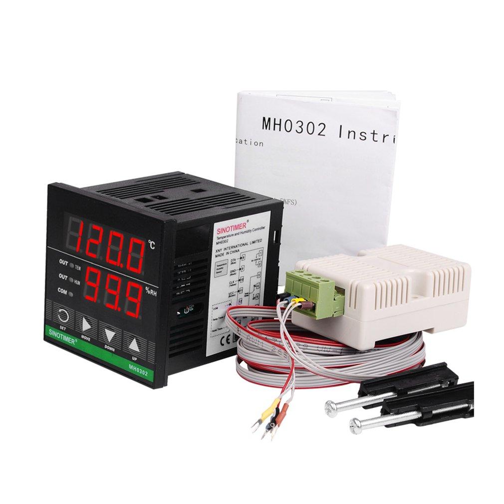 SINOTIMER numérique micro-ordinateur température humidité contrôleur chaleur Cool interrupteur prise thermorégulateur Thermostat Humidistat