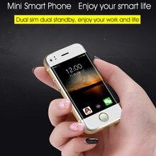 Mini android 6 s señora estudiante dual sim de repuesto pequeño teléfono móvil inteligente