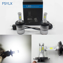 8000LM 50W H4 HB2 9003 Auto Car LED Headlight Conversion kit All in one H4 hi/lo LED Headlights headlamps H4 LED fog light 1pair car led headlights bulb h4 9003 hi lo bi beam 50w fog daytime running light h4 led headlight car auto led headlamp bulbs