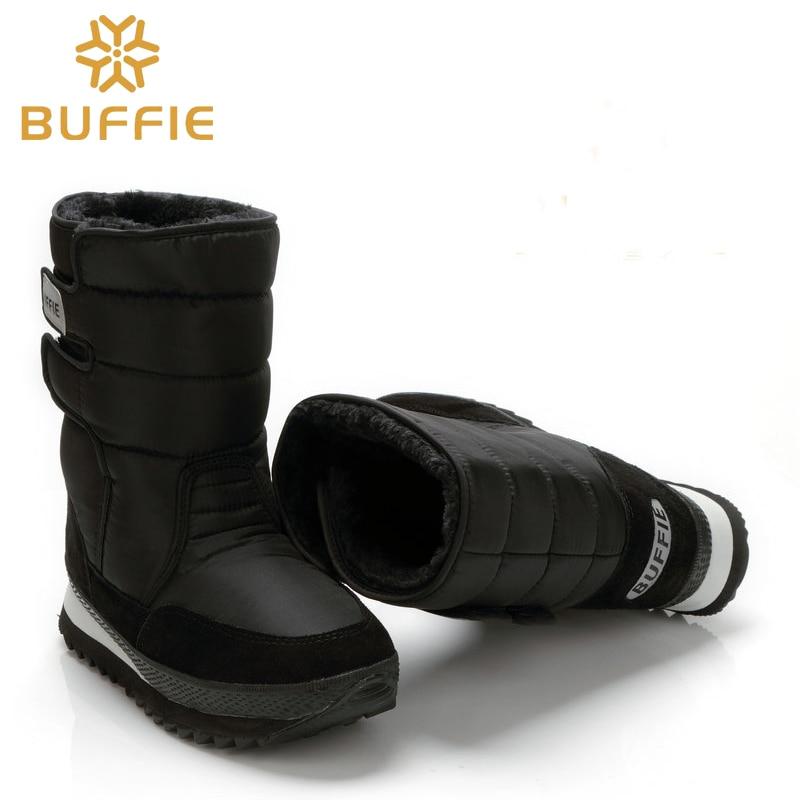Men shoes Winter Boots Shoe Solid Black Snow Boots Plus size 36 to - Men's Shoes - Photo 2