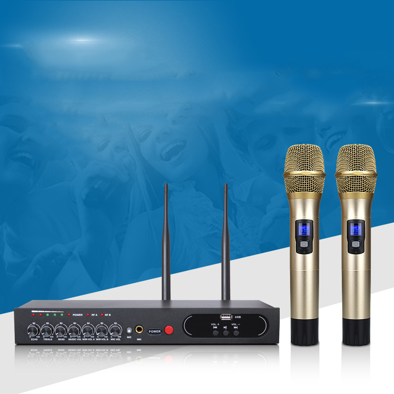 UHF500 599MHz Mobile phone computer Home singing Bluetooth Wireless microphone reverberation TV ktv Audio stage ECHO