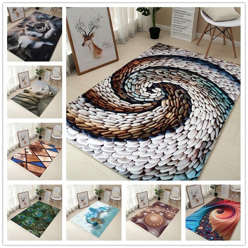 80*120 cm Creative Europe Type 3D Impression Tapis Couloir Paillasson Anti-Slip de Bain Tapis Absorber L'eau Cuisine tapis/Tapis