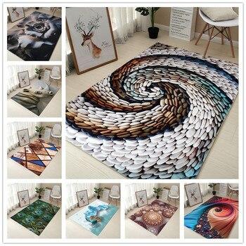 80 120 cm creativo Europa tipo 3D impresión alfombra pasillo felpudo antideslizante baño alfombra absorber agua cocina alfombra/alfombra