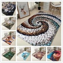 80*120cm Creative Europe Type 3D Printing Carpet  Hallway Doormat Anti - Slip Bathroom Carpet Absorb Water Kitchen Mat/Rug cute christmas santa antislip water absorb doormat bath mat