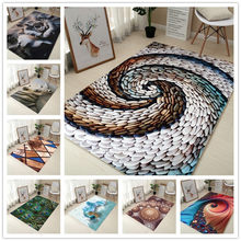 80*120cm Creative Europe Type 3D Printing Carpet Hallway Doormat Anti - Slip Bathroom Carpet Absorb Water Kitchen Mat/Rug(China)