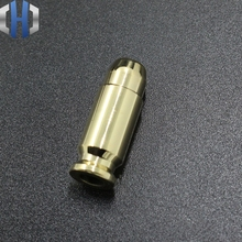 Brass Bullet Shell Pendant Pure Copper Bullet-shaped Knife DIY Flashlight ECD Umbrella Rope Drop Accessories