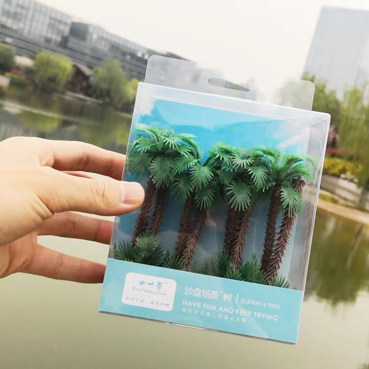 110mm 1:87 HO Scale A Pack Of 8 Pcs Model Palm Tree Landscape Model Train Railway Layout Scenery DIY  Miniature Dioramas Display