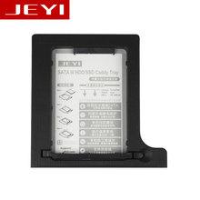 JEYI Q8 Universal 2.5′ 2nd 12.7mm SSD HDD SATA Hard Disk Drive HDD Caddy Adapter  For 12.7mm Height CD DVD ROM Optical UltraBay
