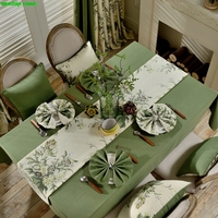 2017 New Fashion Simple American pastoral style Original style Flower patternTable runner Table flag