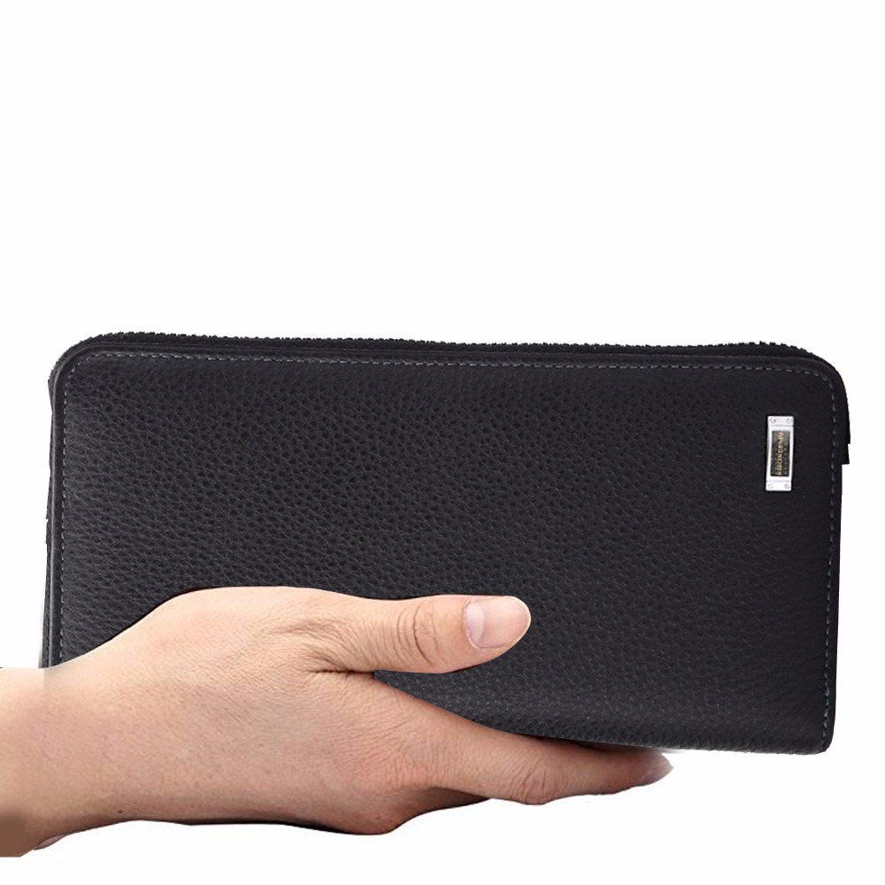 da marca de couro longo Name : Leather Men's Long Wallet Clutch