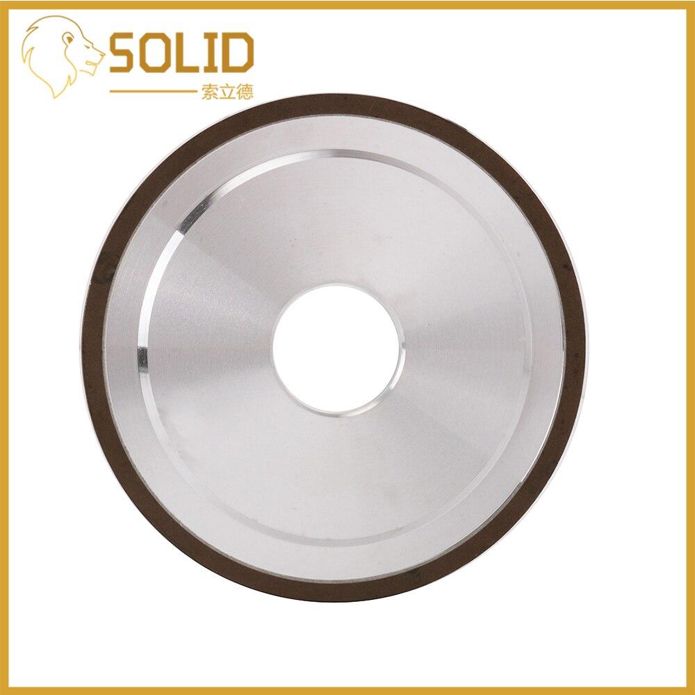 Diamond Grinding Wheel Cutting Disc Resin Bond Grinder For Tungsten Steel Milling Cutter Sharpener 100/125/200mm 240Grit 1Pc