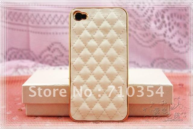 Free shipping 5pcs/lot Fashion Sheepskin Leather cover/shell/pouch/case,leather phone case for iphone 4 /4G,mutilcolors