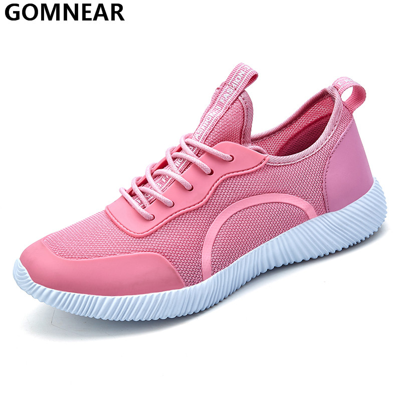 GOMNEAR Women's Sport Running Shoes Outdoor Breathable Comfortable Sneakers Lightweight Walking Jogging Tourism Shoes For Female