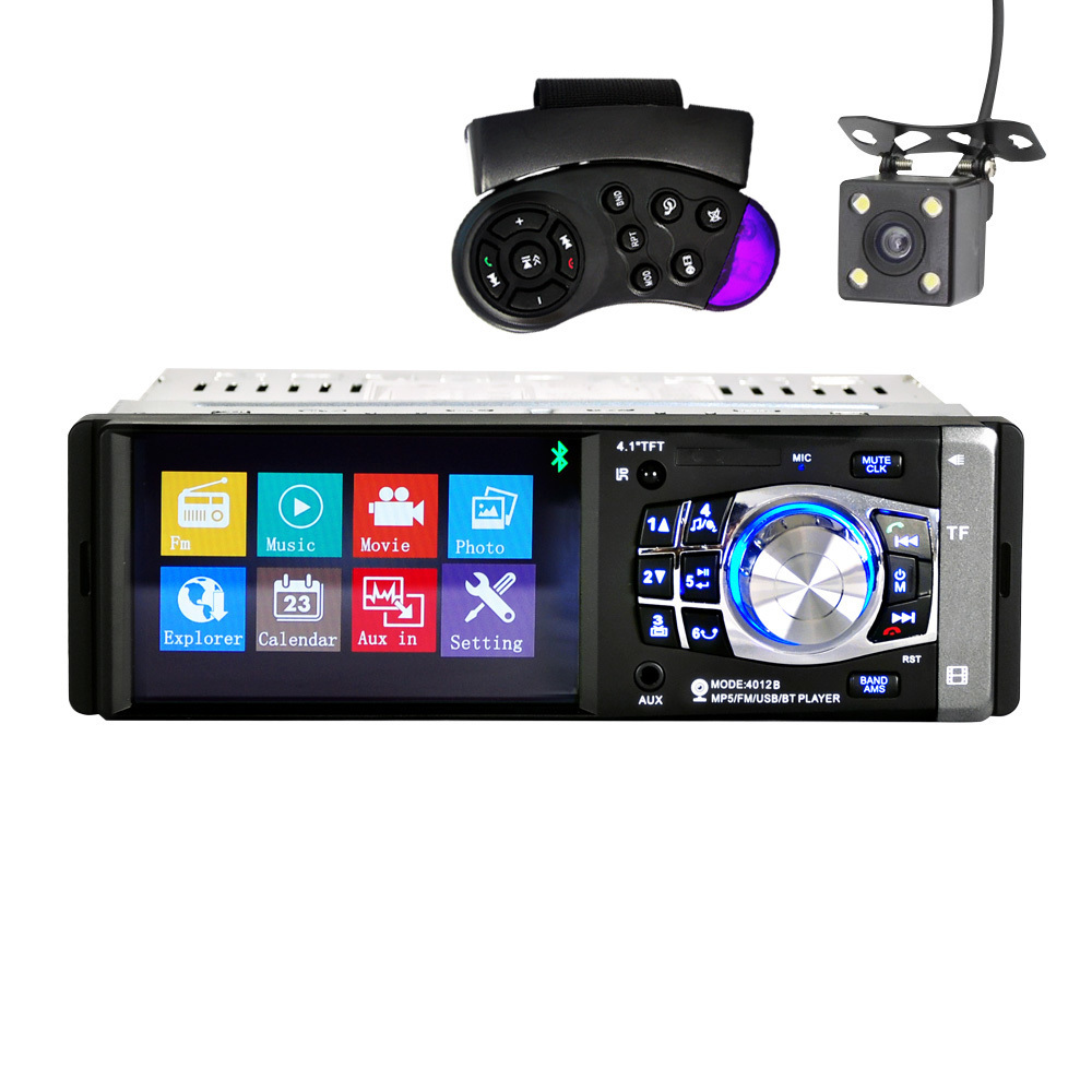 SAIEOSYU Car Radio Mp3 MP5 Player Bluetooth Car Loudspeaker Autoradio 1din SD/USB/TV Audio Remote Control With Rear View Camera