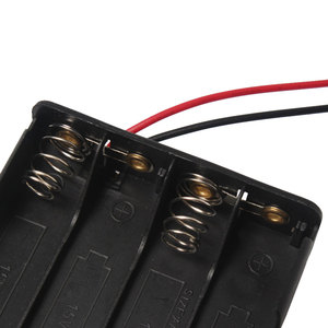 Image 3 - 1PCS 8 x AAA 12V Battery Holder Case Double Side Spring Battery Holder With Wire Lead Back By Back Plastic Battery Box AAA