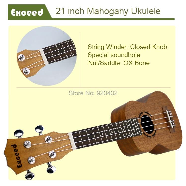 21 ιντσών Mahogany Ukulele Ακουστική κιθάρα - Μουσικά όργανα - Φωτογραφία 4