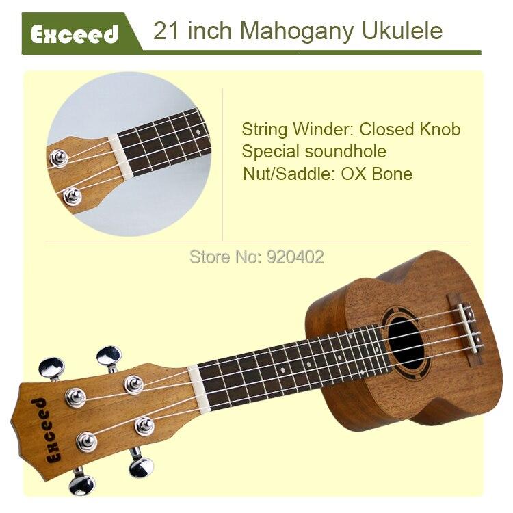 21 zoll Mahagoni Ukulele Akustische Gitarre Sopran Hawaii Ukelele - Musikinstrumente - Foto 4