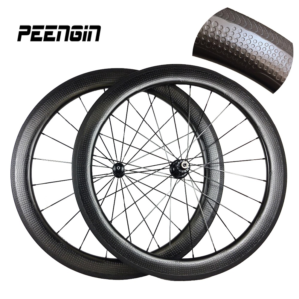 2017 new carbon dimple clincher wheels for triathlon/training/road bike 700C 58mm wheelset golf ball rims option hub custom logo 700c dimple surface carbon wheelset light weight 58mm depth clincher road bike wheels with bitex 306f 306 r hubs