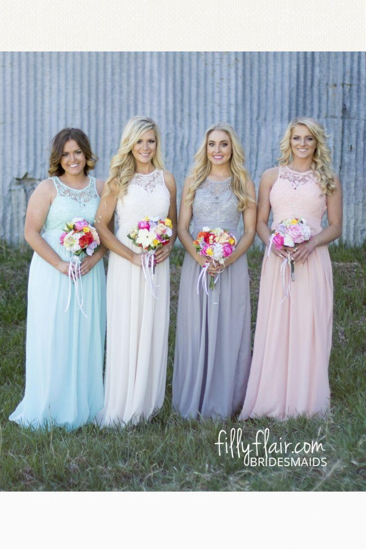 Online buy wholesale grey blue from china grey blue wholesalers hot sale a line bridesmaid dresses grey blue chiffon lace top pleats wedding party dresses ombrellifo Choice Image