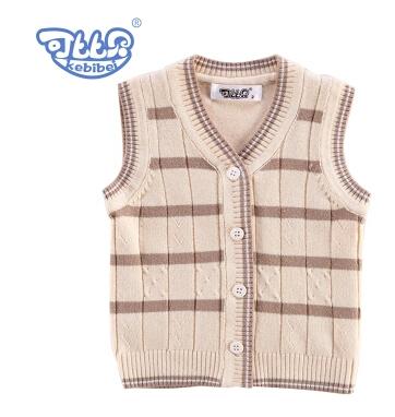 Venta caliente ropa para niños otoño e invierno chaleco niño masculino 100% chaqueta de punto de algodón chaleco niño suéter chaleco para bebé