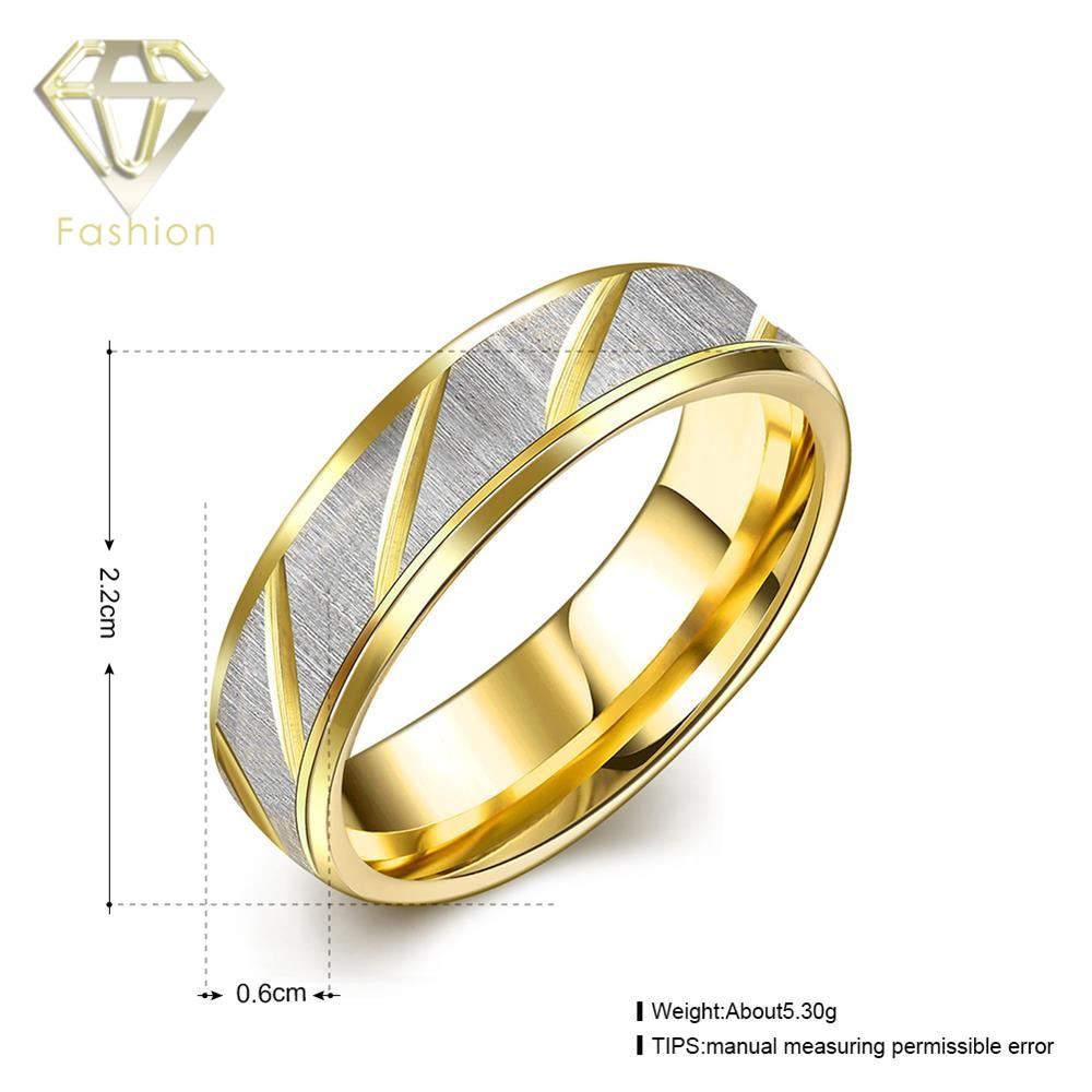 Aliexpresscom Buy Plated Gold Engagement Ring Male Style 316L