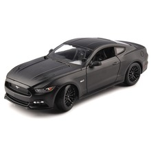 Kids Toys Diecast Matel American Muscle Car Black Sports Cars Models 26cm Modes Maisto 1:18 Mustang 2015 GT 5.0L